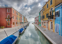 Houses Along Canal, Venice, Italy