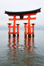 Gate At Itsukushima-Jinja Shrine