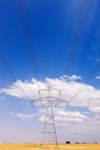 Power Pylon On The Plains
