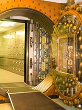 Bank Vault Doors Leading To Sa...