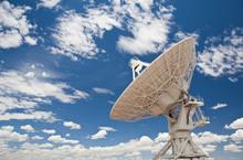 Satellite Dish Under Blue Sky ...