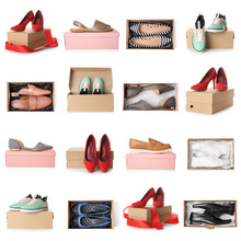 Set Of Different Stylish Shoes...