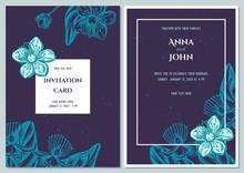 Wedding Invitation Card With B...
