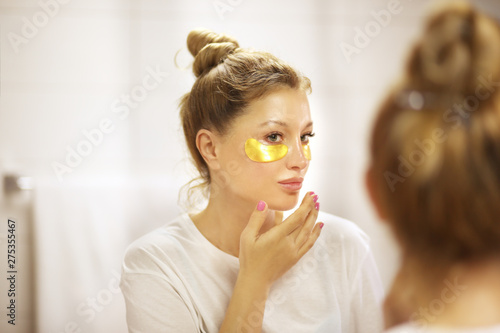 Fotografie, Tablou  Under Eye Masks For Puffiness, Lines, Dark Circles.Eye patches.