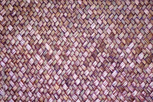 Fotografie, Obraz  Handmade sedge weaving mat texture background