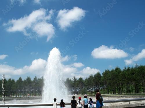 Valokuva  海の噴水