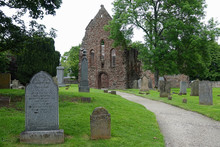 The Cemetery And Ruins Of Beauly Priory, Built In The 1200s AD And Located In Inverness-shire, Scotland, Are Shown During An Afternoon Day.