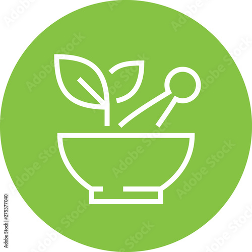 Herbal Medicine Detary Supplement Outline Icon Wallpaper Mural
