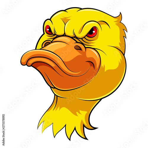 Fotografie, Tablou  Mascot Head of an duck