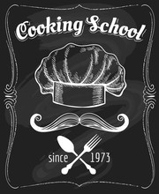 Cooking School Blackboard Poster