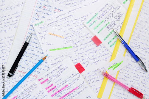 Essays in English language as a part of exam preparation Wallpaper Mural