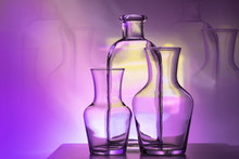 The Outline Of Two Glass Vases...
