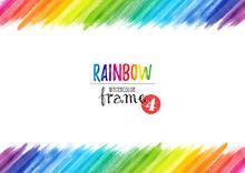Rainbow Watercolor Frame_4
