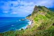 Beautiful landscape scenery of Madeira Island - View from Miradouro de Sao Cristovao in the Northern coastline, Sao Vicente area near Boaventura, Portugal