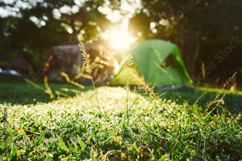 Deurstickers Kamperen Camping