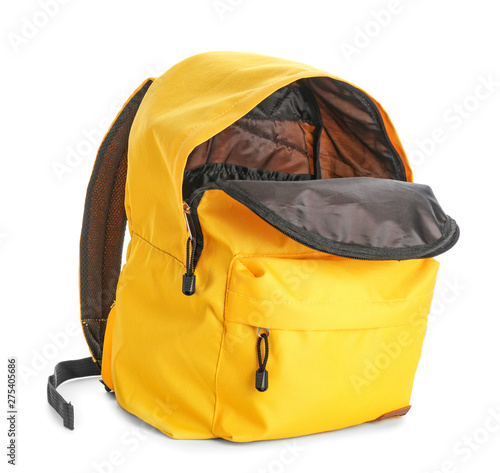 Fototapeta School backpack on white background obraz