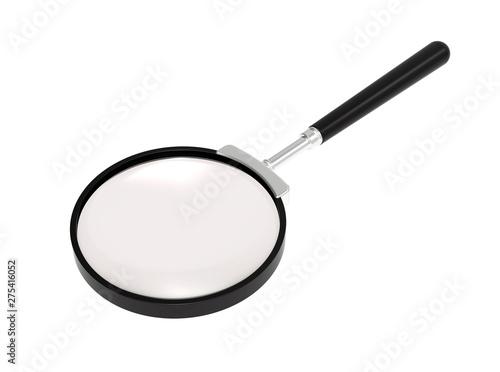Magnifying glass. Optics. Loupe. Canvas Print