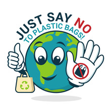 Just Say No To Plastic Bag Wit...