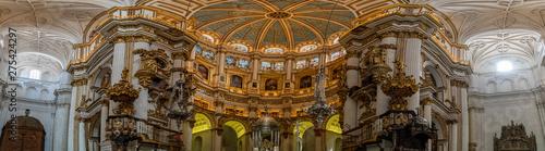 Fototapeta huge view of interior of granada cathedral