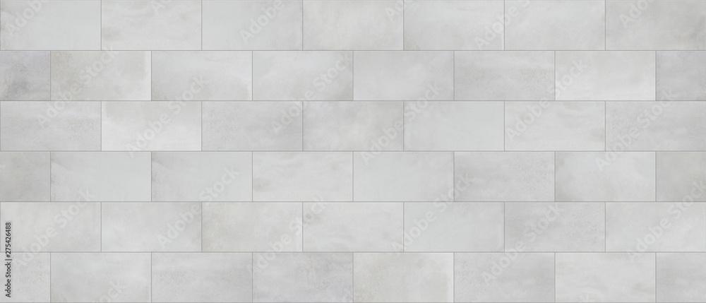 Fototapeta Concrete tile, cinder block wall cladding, seamless texture