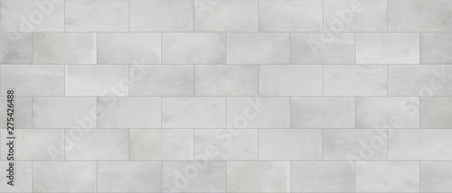 Concrete tile, cinder block wall cladding, seamless texture - 275426488