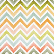 Pastel Color Style Zigzag Chevron Seamless Pattern Background Overlaid With Grungy Elements