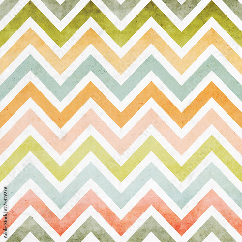 Pastel color style zigzag chevron seamless pattern background overlaid with grun Wallpaper Mural
