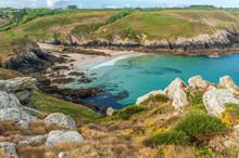 France, Brittany, Pointe Du Van, Theolen Beach