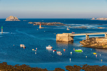France, Brittany, Ile D'Ouessant, Port Of Lampaul, Launching Ramp Of The Lifeboat