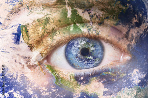 Earth awakening concept, save the planet Canvas Print