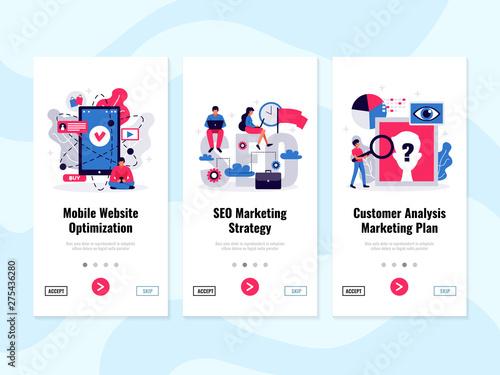 Digital Marketing Banners Set Canvas Print