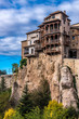"Spain, autonomous community of Castile - La Mancha, city of Cuenca, Casa del Rey (Casas Colgadas ""Hanging houses"") of the upper city of Hoz del Huecar (UNESCO World Heritage) (Most Beautiful Village in Spain)"