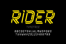 Sport Style Modern Font Design, Alphabet Letters And Numbers