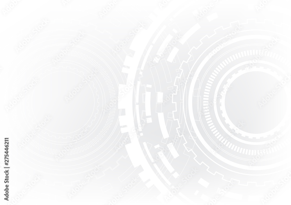 Fototapety, obrazy: technology abstract circle vector background