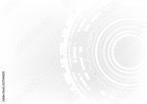 Vászonkép  technology abstract circle vector background