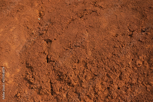 Fotografie, Obraz Abstract rough red soil texture