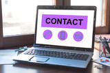 Contact concept on a laptop screen - 275460074