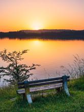 Sunset At The Lake Forggensee
