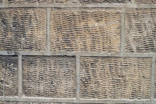 Mur en pierre de taille Canvas Print