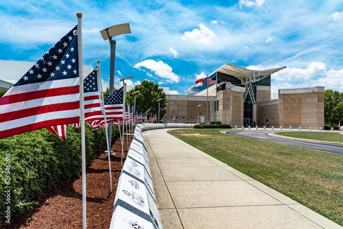 Field Of Honor at the Airborne and Special Operations Museum in Fayetteville, NC Fototapet