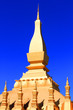 canvas print picture - Beautiful great golden Pagoda at Wat Pha That Luang Temple at Vientiane province, Laos