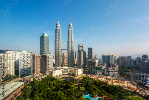 Photo Stands Kuala Lumpur Kuala lumpur skyline in the morning, Malaysia, Kuala lumpur is capital city of Malaysia