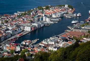 Aerial view of Bergen