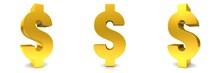 Dollar Sign Golden 3d Renderin...