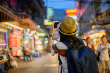 Young Asian Travel In Local Pl...