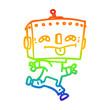 rainbow gradient line drawing cartoon robot