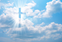 Christian Cross Appears Bright...