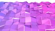 canvas print picture - 3d surface as 3d low poly abstract geometric background with modern gradient colors, red blue violet.