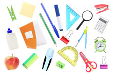 School Objects,office Supplies...