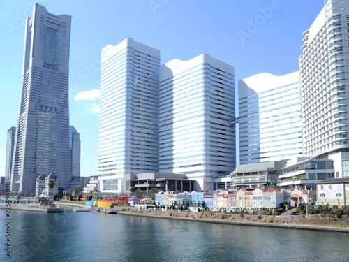 神奈川県横浜市みなとみらいの風景 Canvas-taulu